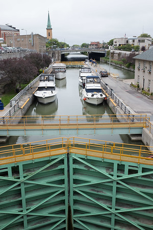 JOED VIERA/STAFF PHOTOGRAPHER-Four Boats dock in the chambers of the Locks.