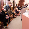 JOED VIERA/STAFF PHOTOGRAPHER-Lockport, NY- Eager thespians fill the Historic Palace Theatre as they wait for their turn to audition for the winter musical Scrooge. Auditions were held Sept. 28 and 29.
