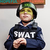 JOED VIERA/STAFF PHOTOGRAPHER-Lockport, NY-Ethan Santangelo, 6, waits to enter the Barge Canal Optimist Club's Happy House at the YMCA.