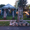 JOED VIERA/STAFF PHOTOGRAPHER-Lockport, NY-Skeletons fill a makeshift cemetary halloween display in front of 25 Crosby Avenue.