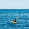 JOED VIERA/STAFF PHOTOGRAPHER-Olcott, NY-Brian Porter kayaks on Lake Ontario to fish.