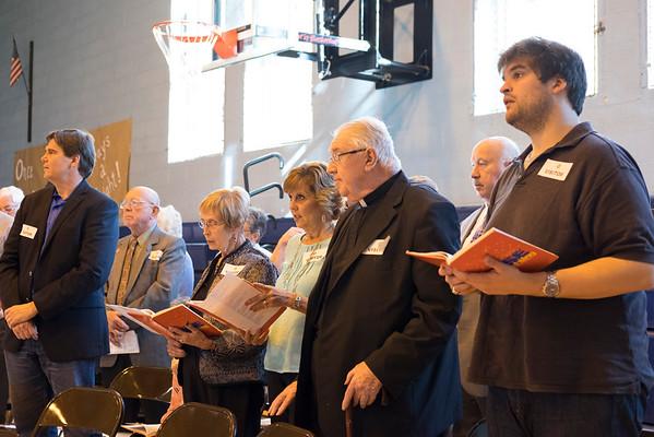 JOED VIERA/STAFF PHOTOGRAPHER-Lockport, NY-DeSales Distinguished Alumni sing during mass.