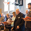 JOED VIERA/STAFF PHOTOGRAPHER-Lockport, NY-DeSales Distinguished Alumni sing during mass.