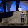 JOED VIERA/STAFF PHOTOGRAPHER-Lockport, NY- Bella Aiu and Collin Scott as Juliet Capulet and Romeo Montague during the final dress rehearsal for Lockport High School's production of Romeo and Juliet.