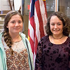 JOED VIERA/STAFF PHOTOGRAPHER-Lockport, NY- Erin Haley 16 and Abigail Sapecky 15 are the founders of the young republicans.