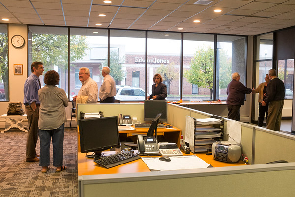 JOED VIERA/STAFF PHOTOGRAPHER-Lockport, NY- Visitors speak to LUS&J staff during the open house event