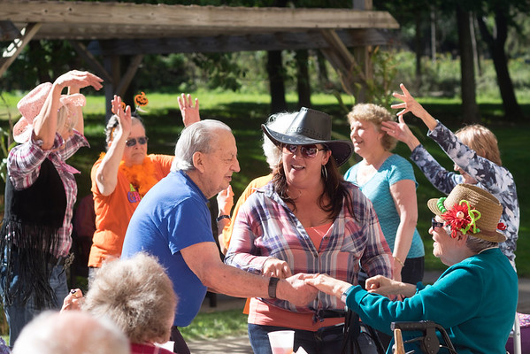 JOED VIERA/STAFF PHOTOGRAPHER-Lockport, NY-Bill Bolt asks Cecile Tegler to dance during the hoe down held at Mountview.