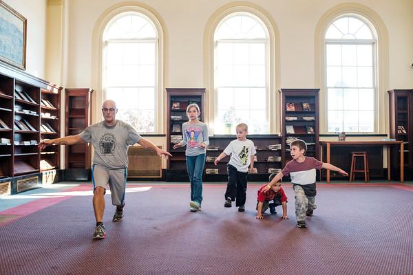 JOED VIERA/STAFF PHOTOGRAPHER-Lockport, NY-robot Lockport Public Library.