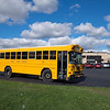 JOED VIERA/STAFF PHOTOGRAPHER-Lockport, NY-A Ridge Road Express schoolbus parks outside of Lockport High School.
