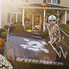 JOED VIERA/STAFF PHOTOGRAPHER-Newfane, NY-A skeleton sits atop a modified stock car spoiler in front of a house on the 3800 block of route 78.