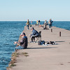 JOED VIERA/STAFF PHOTOGRAPHER-Olcott, NY-Paul and his son Joe  Wujek, 14 fish out of Lake Ontario on the Olcott Pier.