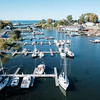 JOED VIERA/STAFF PHOTOGRAPHER-Olcott, NY-The Sun shines over the Newfane Marina and Olcott Beach.