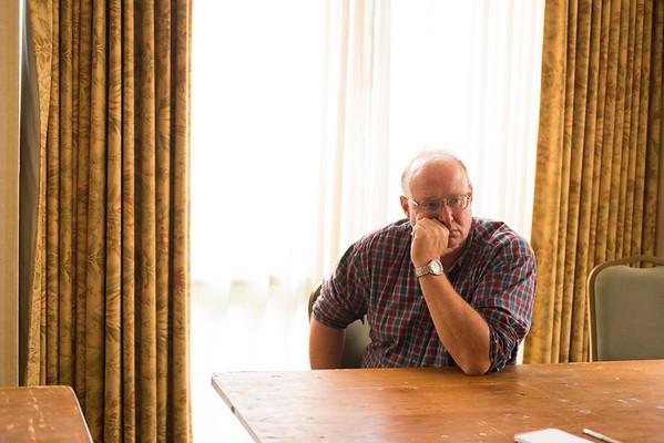 JOED VIERA/STAFF PHOTOGRAPHER-Lockport, NY-Suspended Kurt Bethke speaks with the US&J.