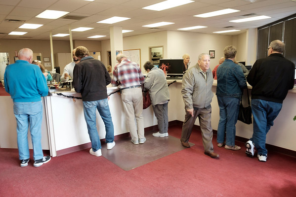 JOED VIERA/STAFF PHOTOGRAPHER-Lockport, NY-Voters at the Niagara County Board of Elections.