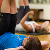 JOED VIERA/STAFF PHOTOGRAPHER-Lockport, NY- Sue Bochenski attends Rosalyn Tondera's Core class at the YMCA