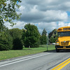 JOED VIERA/STAFF PHOTOGRAPHER-Lockport, NY-A Ridge Road Express schoolbus drives students down High St.