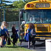 JOED VIERA/STAFF PHOTOGRAPHER-Lockport, NY-Lockport High School students board a Ridge Road Express schoolbus outside of the school.