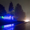 JOED VIERA/STAFF PHOTOGRAPHER-Lockport, NY- A home on Sunset Drive is lit blue in honor of Lockport Blue,