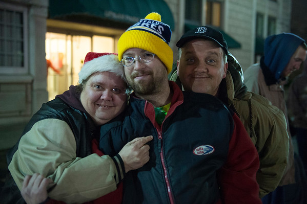 JOED VIERA/STAFF PHOTOGRAPHER-Lockport, NY-   On Lookers have fun during the Light Up Lockport Parade.