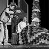 JOED VIERA/STAFF PHOTOGRAPHER-Lockport, NY- Robby Swyrus and Jay Zimmerman rehearse their roles as Jacob Marley and Ebenezer Scrooge in the Palace Theatre's performance of Scrooge The Musical Tuesday night.