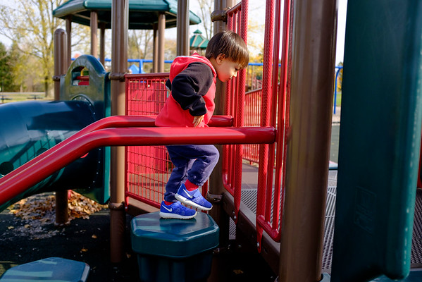 JOED VIERA/STAFF PHOTOGRAPHER-Lockport, NY-Jonathan Rappold, 2, plays at Day Road Park.