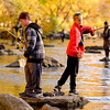 JOED VIERA/STAFF PHOTOGRAPHER-Burt, NY-Owen Schank, 12, and Dominic Massai, 11, join the anglers at Fishermans Park in search for their first catch of the day.