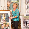 JOED VIERA/STAFF PHOTOGRAPHER- Gasport, NY-Watercolorist Kathleen Giles organizes her studio while preparing for her Open House.