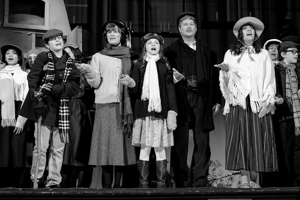 JOED VIERA/STAFF PHOTOGRAPHER-Lockport, NY-The cast of Scrooge The Musical rehearses at the Palace Theatre Tuesday night.