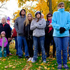 JOED VIERA/STAFF PHOTOGRAPHER-Lockport, NY-  A crowd braves through a frigid  morning while attending the Veterans Day ceremony at Outwater Park.