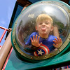 JOED VIERA/STAFF PHOTOGRAPHER-Lockport, NY-Joseph Morello, 4, plays at Day Road Park.