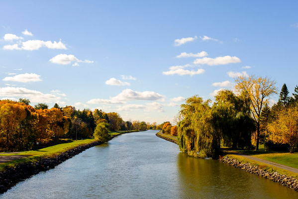 JOED VIERA/STAFF PHOTOGRAPHER-Lockport, NY-The Canal as seen from the North Canal Road Bridge.