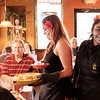 JOED VIERA/STAFF PHOTOGRAPHER-Lockport, NY-Waitresses Loriany Ru and Jasmin Duarte celebrate the Day of the Dead by dressing up for their shifts at Aguacates on Transit Road.