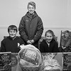 JOED VIERA/STAFF PHOTOGRAPHER-Lockport, NY- Sam, Jacob, Sophia and Abbey Verritti behind their donations to Lockport CARES shelter.