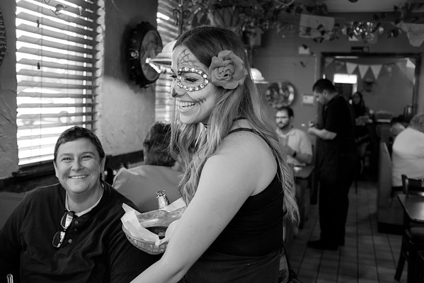 JOED VIERA/STAFF PHOTOGRAPHER-Lockport, NY-Waitress Loriany Ru and celebrates the Day of the Dead by dressing up for her shift at Aguacates on Transit Road.