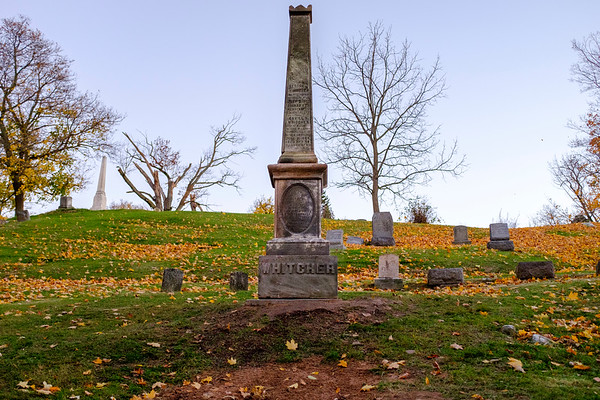 JOED VIERA/STAFF PHOTOGRAPHER-Lockport, NY-Glnwood Cemetary's Whitcher monument has been restored prior to a special Veterans Day celebration.