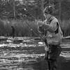 JOED VIERA/STAFF PHOTOGRAPHER-Burt, NY-Owen Arthurs, 9, sets up his rod at Fishermans Park.