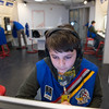 Joed Viera/Staff Photographer Lockport, NY-Navigator Connor Nogle, 11, performs his duties aboard the Unity Station at the Challenger Learning Center during a space mission simulation.