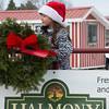Joed Viera/ Staff Photographer- Pendleton, NY-Tessa Ostrowski holds a Halmony Farms Christmas wreath.
