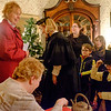 JOED VIERA/STAFF PHOTOGRAPHER-Lockport, NY- Visitors gather at the Bond House on Thursday night.