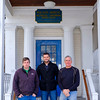 Joed Viera/Staff Photographer Wilson, NY-Tim, Chris and Mike White stand outside the historical Wilson House.