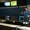 Joed Viera/Staff Photographer Lockport, NY-Commander Jeff Welton speaks about the comet Halley during a space mission simulation at the Challenger Learning Center.