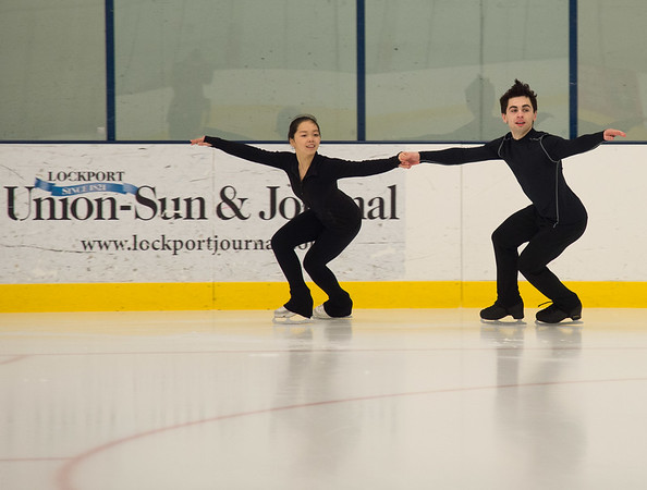Joed Viera/ Staff Photographer- Lockport, NY-Jocelyn Haines and Jimmy Koszuta practice their routine on the ice at the Cornerstone Arena.