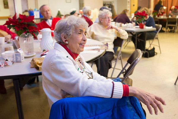 Joed Viera/Staff Photographer Lockport, NY-Patty Smith enjoys the holiday celebrations at the Dale Association.