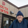Joed Viera/Staff Photographer Lockport, NY-Eva Quintern smiles after picking up Christmas gifts and dinner for her three grandchildren at the Salvation Army. 209 additional families showed up to collect gifts and dinners at the Salvation Army as a part of their Christmas Assistance Program on Friday.