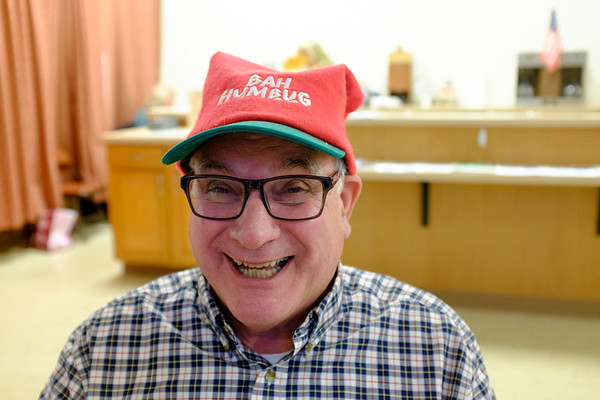 Joed Viera/Staff Photographer Lockport, NY- Newfane resident George Hoffman enjoys the holiday celebrations at the Dale Association.