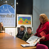 Joed Viera/Staff Photographer Lockport, NY-Kathy Michaels   explains the functions of an orbiter at the Challenger Learning Center before a space mission simulation.