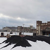 Joed Viera/Staff Photgrapher-Lockport, NY-A light coat of snow covers mounds of rubber at HTI.