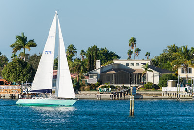 View of Levinson home from across Boca Ciega Bay.