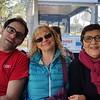 On the tram at NASA