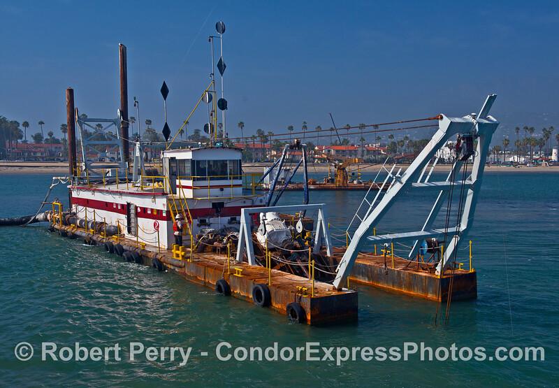 "Image 2 of 2:  Santa Barbara sand removal dredge barge ""La Encina."""